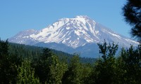"The view of Mt. Shasta from the ""Great Room"" (eventually...)"